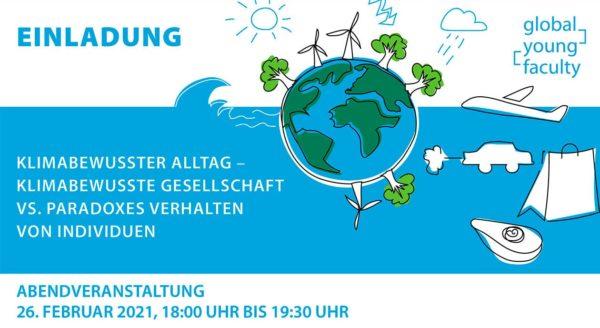 Einladung zur Abschlussveranstaltung der GYF-AG 'Klimabewusster Alltag' am 26.2.2021