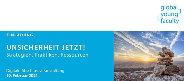Einladung zur Abschlussveranstaltung der GYF-AG 'Unsicherheit jetzt!' am 19.2.2021